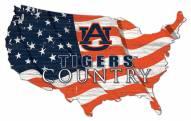 "Auburn Tigers 15"" USA Flag Cutout Sign"