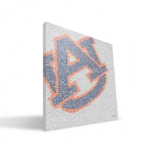 """Auburn Tigers 16"""" x 16"""" Typo Canvas Print"""