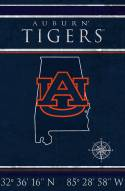 "Auburn Tigers 17"" x 26"" Coordinates Sign"