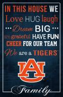 """Auburn Tigers 17"""" x 26"""" In This House Sign"""