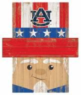 """Auburn Tigers 19"""" x 16"""" Patriotic Head"""