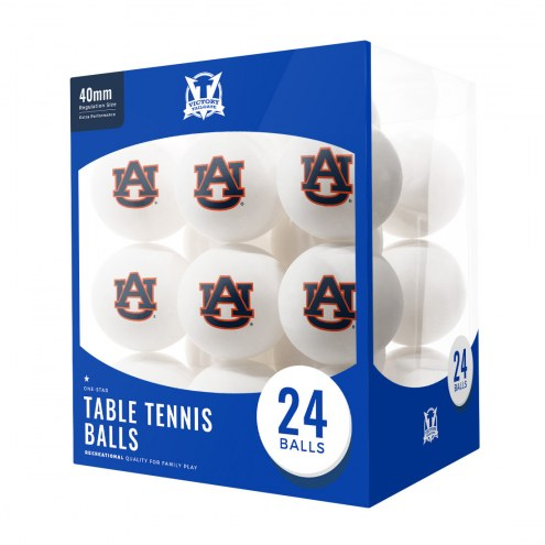 Auburn Tigers 24 Count Ping Pong Balls