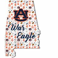 """Auburn Tigers 24"""" Floral State Sign"""