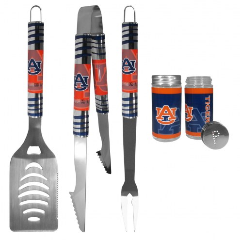 Auburn Tigers 3 Piece Tailgater BBQ Set and Salt and Pepper Shaker Set