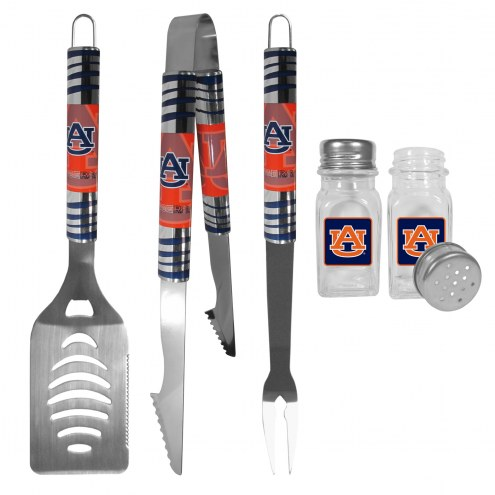 Auburn Tigers 3 Piece Tailgater BBQ Set and Salt and Pepper Shakers