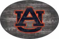 "Auburn Tigers 46"" Distressed Wood Oval Sign"