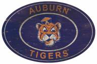 "Auburn Tigers 46"" Heritage Logo Oval Sign"
