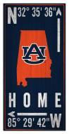 "Auburn Tigers 6"" x 12"" Coordinates Sign"