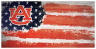 """Auburn Tigers 6"""" x 12"""" Flag Sign"""