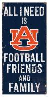 """Auburn Tigers 6"""" x 12"""" Friends & Family Sign"""