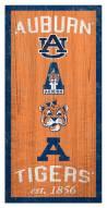 "Auburn Tigers 6"" x 12"" Heritage Sign"