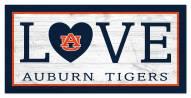 """Auburn Tigers 6"""" x 12"""" Love Sign"""