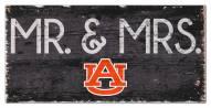 """Auburn Tigers 6"""" x 12"""" Mr. & Mrs. Sign"""