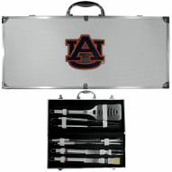 Auburn Tigers 8 Piece Stainless Steel BBQ Set w/Metal Case