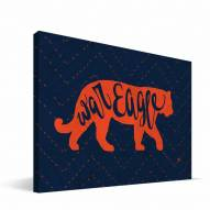 """Auburn Tigers 8"""" x 12"""" Mascot Canvas Print"""