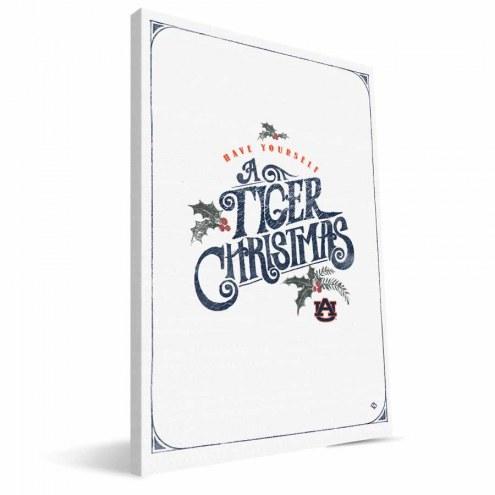 "Auburn Tigers 8"" x 12"" Merry Little Christmas Canvas Print"