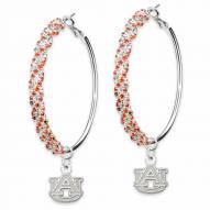 Auburn Tigers Amped Logo Crystal Earrings