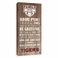 Auburn Tigers Family Rules Icon Wood Printed Canvas