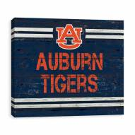 Auburn Tigers Rustic Banner Large Logo Printed Canvas