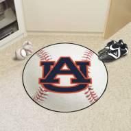 "Auburn Tigers ""AU"" Baseball Rug"
