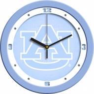Auburn Tigers Baby Blue Wall Clock