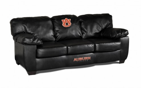 Auburn Tigers Black Leather Classic Sofa