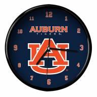 Auburn Tigers Black Rim Clock