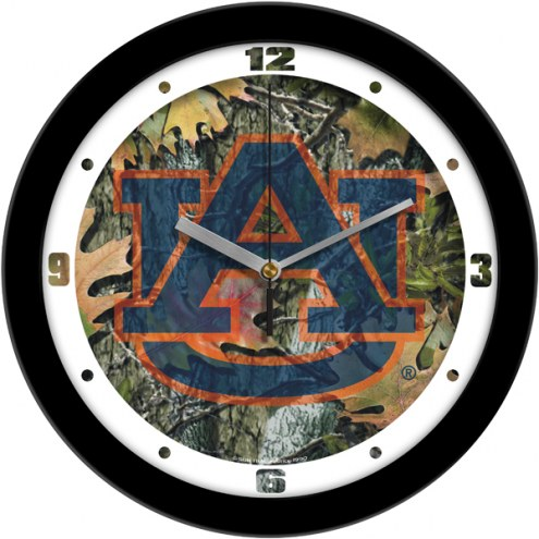 Auburn Tigers Camo Wall Clock