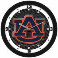 Auburn Tigers Carbon Fiber Wall Clock