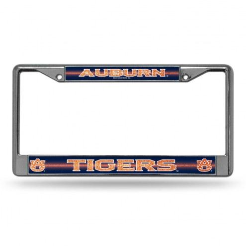 Auburn Tigers Chrome Glitter License Plate Frame