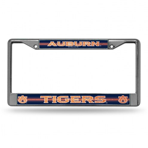 Auburn Tigers Chrome Glitter License Plate Frame