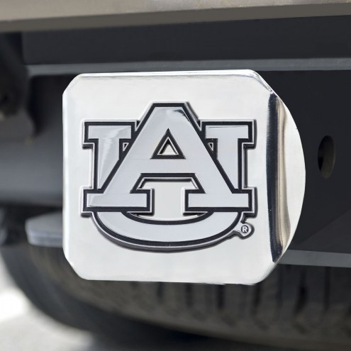 Auburn Tigers Chrome Metal Hitch Cover