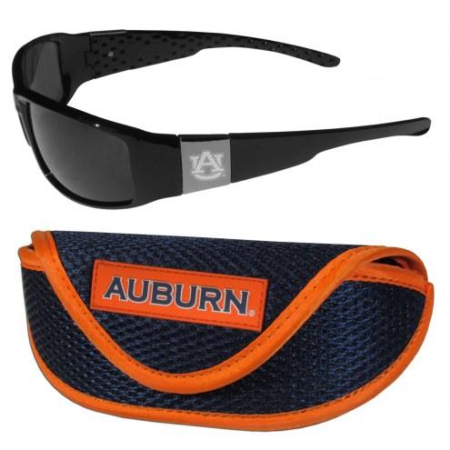 Auburn Tigers Chrome Wrap Sunglasses & Sports Case