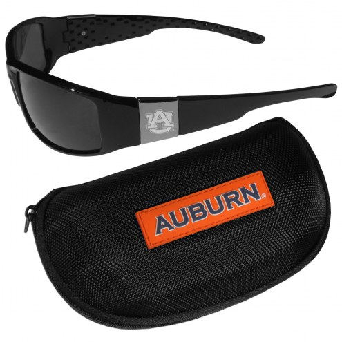 Auburn Tigers Chrome Wrap Sunglasses & Zippered Carrying Case