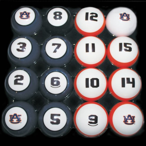Auburn Tigers College Billiard Balls Set