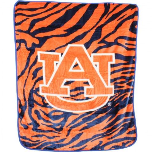 Auburn Tigers Raschel Throw Blanket