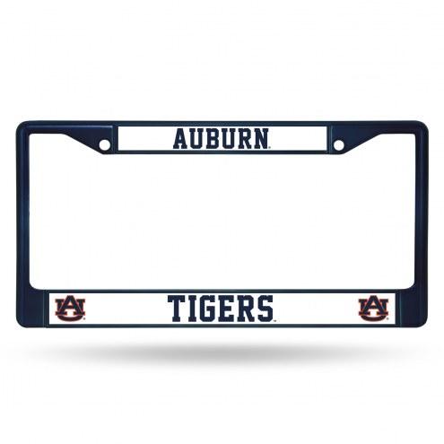Auburn Tigers Color Metal License Plate Frame