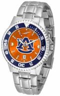Auburn Tigers Competitor Steel AnoChrome Color Bezel Men's Watch