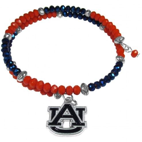 Auburn Tigers Crystal Memory Wire Bracelet