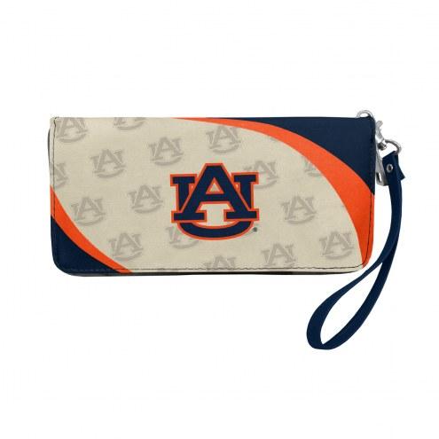 Auburn Tigers Curve Zip Organizer Wallet