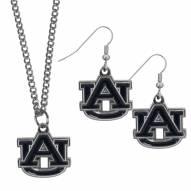 Auburn Tigers Dangle Earrings & Chain Necklace Set