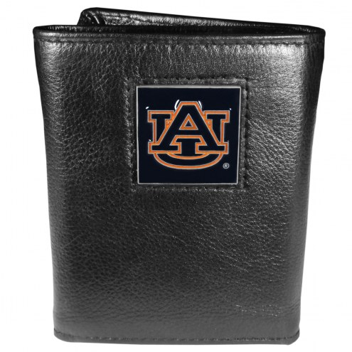 Auburn Tigers Deluxe Leather Tri-fold Wallet