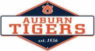 Auburn Tigers Diamond Panel Metal Sign