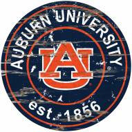 Auburn Tigers Distressed Round Sign
