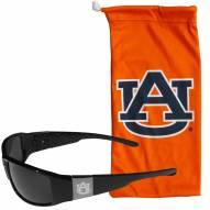 Auburn Tigers Etched Chrome Wrap Sunglasses & Bag