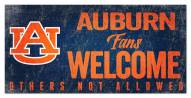 Auburn Tigers Fans Welcome Sign