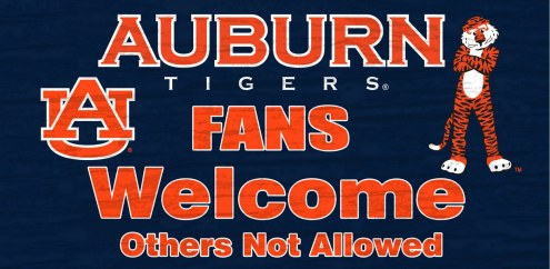 Auburn Tigers Fans Welcome Wood Sign