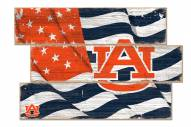 Auburn Tigers Flag 3 Plank Sign