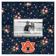 """Auburn Tigers Floral 10"""" x 10"""" Picture Frame"""