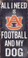 Auburn Tigers Football & Dog Wood Sign